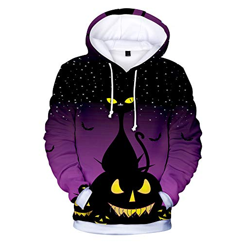 3D Halloween Hoodie Women Men Hooded Sweatshirts Pullover Tops Plus Size Christmas Clothes Color 6 XXL]()