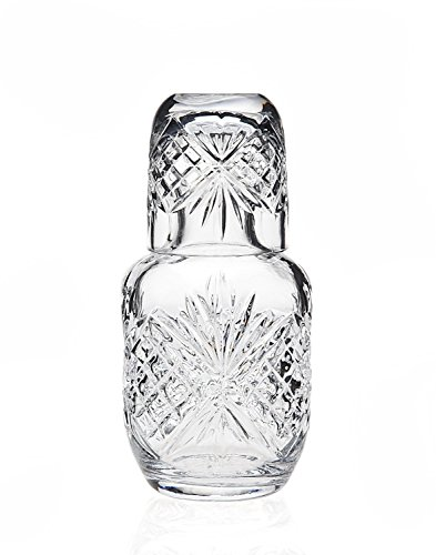 James Scott Crystal Bedside Night Carafe With Tumbler Glass -