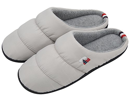 RockDove Women's Quilted Down Indoor Outdoor Slippers, Comfortable Memory Foam Puffy Warm Slip On Clogs for In...