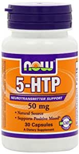 NOW  5-htp, 50mg, 30 Capsules Veg Capsules