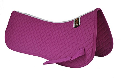ECP Equine Comfort Products ECP Cotton Quilted Half Saddle Pad (Rose)