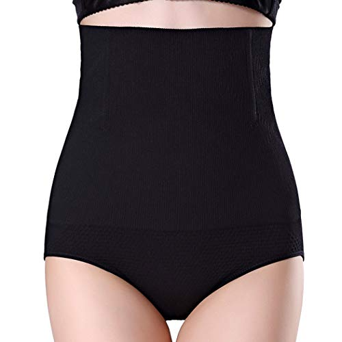 Shapewear for Women Body Shaper Briefs High Waist Tummy Control Panties Shaping Girdle Underwear (Black, X-Large/XX-Large)