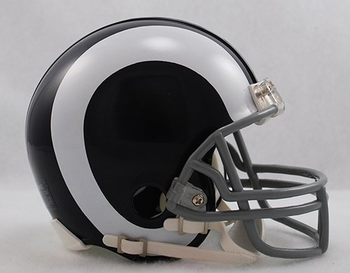 Los Angeles Rams 1965-72 Throwback NFL Riddell Replica Mini (Nfl Throwback Football Helmet)