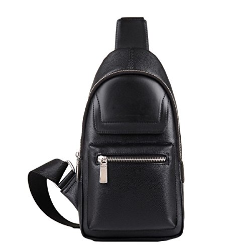 Zipper Fashion Outdoor Chest Bag Black Leisure Messenger Sports Bags Men 's Dark 4SfqA4Ow