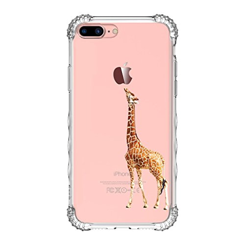 iPhone 8 Plus Case/iPhone 7 Plus Case, GOLINK TPU Bumper Clear Case with Air Cushion Drop Protection for iPhone 7/8 Plus(5.5 inch)-Giraffe