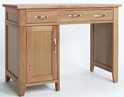 039ff53bce06 Hallowood Camberley 1 Door 2 Drawer Single Pedestal Computer Desk in Light  Oak Finish