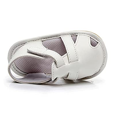 FORESTIME_baby shoes Baby Leather Moccasins, Infant Baby Boys Girls PU Leather Rubber Sole Summer Sandals First Walkers: Clothing