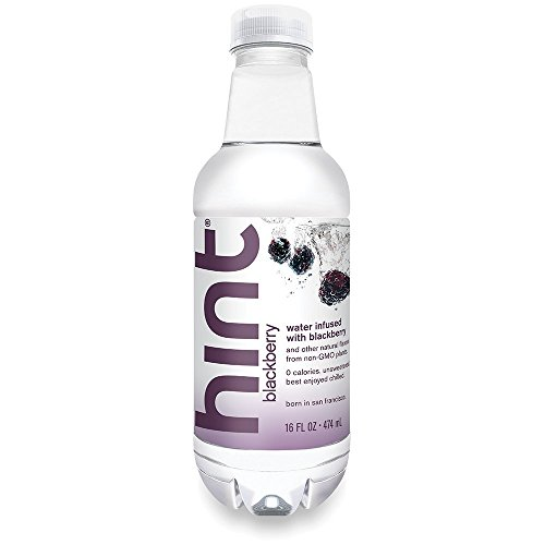 - Hint Water Blackberry (Pack of 24) 16 Ounce Bottles Pure Water Infused Blackberry Zero Sugar Zero Calories Zero Sweeteners Zero Preservatives Zero Artificial Flavor