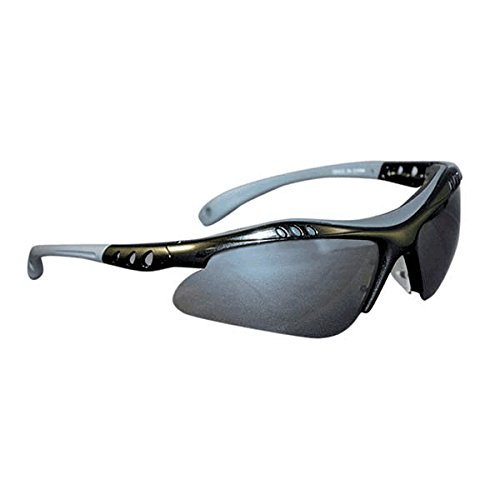 (Ironwear Troy 3000 Series Nylon Protective Safety Glasses with Brow Guard, Silver Mirror Lens, Grey Frame (3000-G-SM))