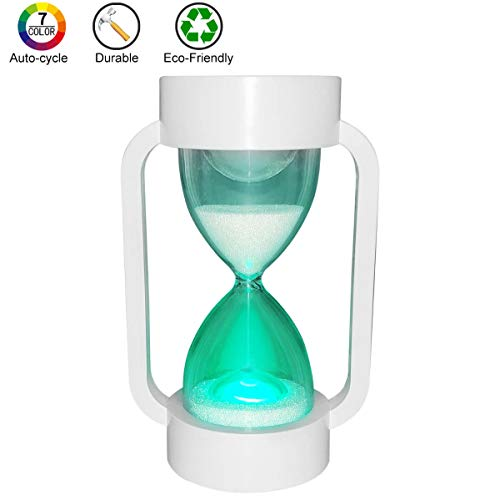 (SuLiao Hourglass Sand Timer Lamp: 7 Color Changing & Warm Light for Kids Stay Focused (10 Minutes))