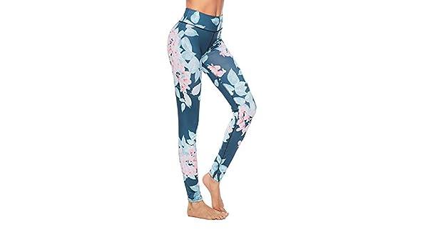 Wuxingqing Pantalones de Yoga para Mujer Pantalones de Yoga ...