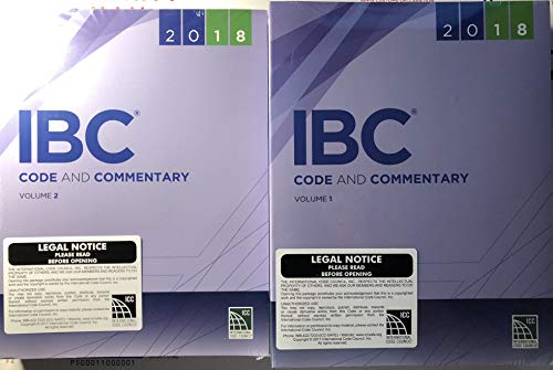 - IBC Code and Commentary 2018: The Complete Ibc With Commentary After Each Section (International Building Code Commentary)