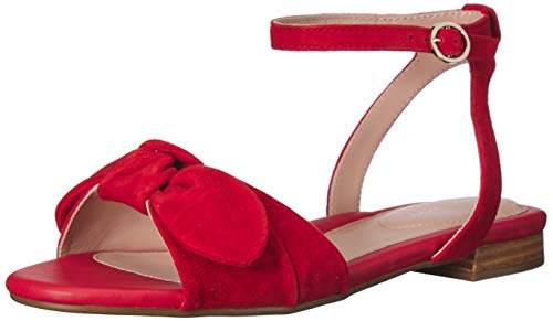 Taryn Rose Women's Vivian Flat Sandal Sangria 8 M M US]()