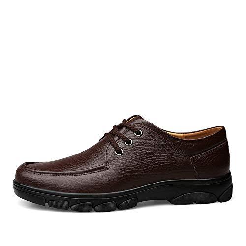 Cómodo 38 De Informal Oxford Eu Cuero color Tamaño Formales Negro Hombres Marrón Transpirable Encaje Tacón Para Plano Yjiaju Zapatos Moda xvqPTf4