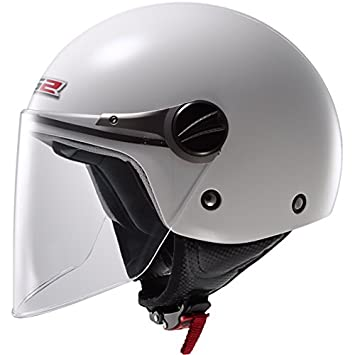 LS2 of575j wuby Casco de Moto para Niños Open Face Jet Casco – Blanco