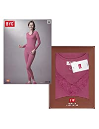 BYC Womens Shrink Warm Soft Comfortable Thermal Long Underwear Performance Fabrics
