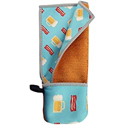Toddy Gear Pocket Toddy On-the-Go Screen Cleaning Cloth for Cell Phones, Tablets, and Glass, 5 x 7 Inches, Beer and Bacon (EC2016)