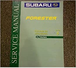 2000 subaru forester electrical wiring section 8 service repair shop manual  oem: subaru: amazon com: books