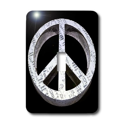 3dRose LLC lsp_19231_1 Peace Pass it on a Rough and Worn Metal Three Dimensional Sign - Single Toggle Switch