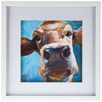 Cow Face Framed Wall Art Wall Sign Home Decoration Theater Media ()