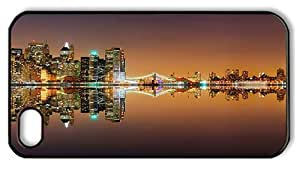 Hipster iPhone 4 case good cases New York City Lights PC Black for Apple iPhone 4/4S