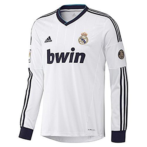 Adidas Real Madrid Home Jersey Long Sleeve 2012-15 (X-Large) (Sleeve Madrid Real Jersey Long)