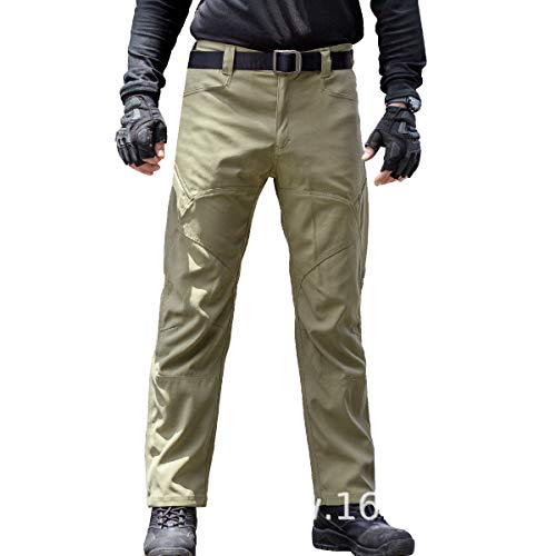 FREE SOLDIER Mens Tactical Pants with Multiple Pockets Summer Breathable Lightweight Pants Duty Work Pants
