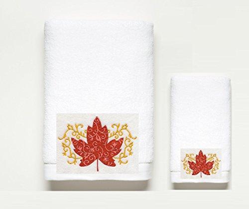 - Elegant ~Autumn~ Filigree Bath Towel Set