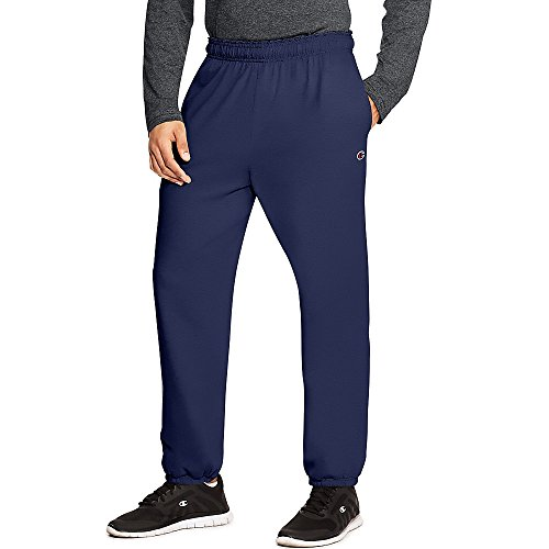 - Champion Authentic Men's Closed Bottom Jersey Pants,,Navy,,XL,2PK