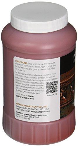 AMACO Potters Choice Lead-Free Non-Toxic Glaze, 1 pt, Ancient Jasper PC-53 - 1371059