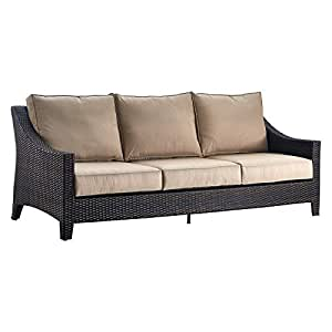 Serta Tahoe Outdoor Three Seater Sofa Terra Brown Wicker