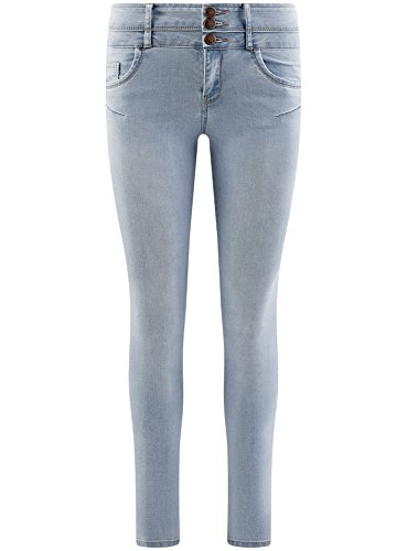 Donna Ultra Vita 7000w Blu A Alta Jeans Skinny Oodji FOxAHqq