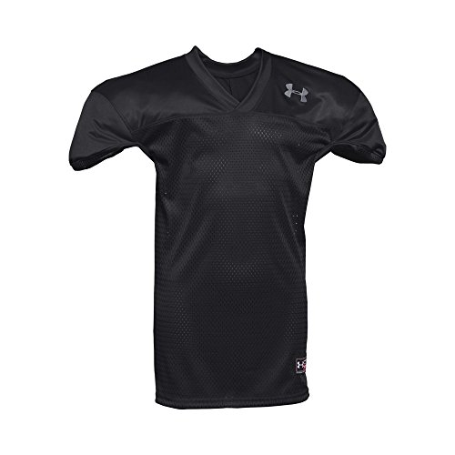 Under Armour Boys' Football Jersey, Black/White, Youth X-Lar