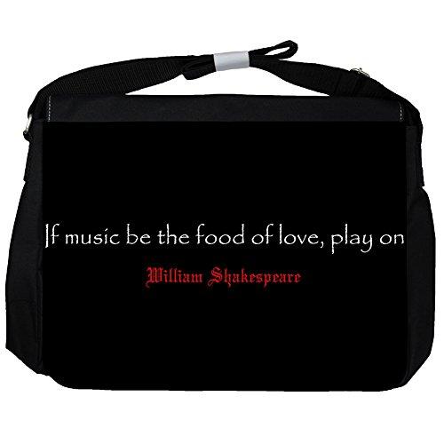 If music be - William Shakespeare Unisex Umhängetasche