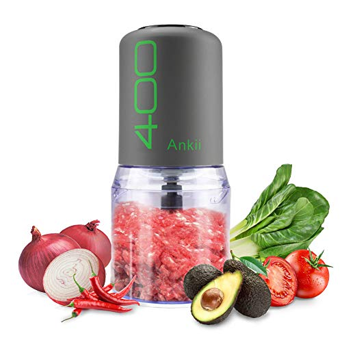 Food Processor Blender Electric Vegetable Chopper Multifunctional Meat Chopper Veggie and Fruit Mincer Mixer 4 Stainless Steel Blades Gray Review