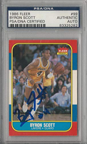 - Byron Scott Memorabilia PSA/DNA Autographed Signed 1986 Fleer Rookie Card Auto 99