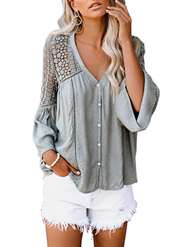FARYSAYS Womens Crochet Sleeve Blouses product image