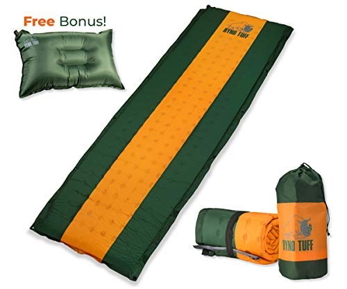 Ryno Tuff Sleeping Pad Set, Self Inflating Sleeping Pad with Free Bonus Camping Pillow, The Foam Camping Mattress is Large, Comfortable and Well Insulated, Yet Compact When Folded (Sleeping Pad Set) [並行輸入品] B07R4VNKZR