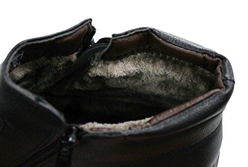 AK collezioni Scarpe stivaletti uomo nero casual invernali sneakers  polacchine con pelliccia interna numero 40 41 42 43 44 45  Amazon.it   Abbigliamento eb338fb7810