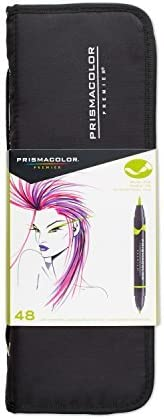 Prismacolor 1776354 Premier Double Ended Art Markers Fine And Brush Tip 48 Count With Carrying Case