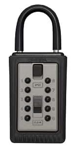 Kidde AccessPoint 001166 KeySafe 3-Key Portable Push Button Key Safe Box, Titanium Gray