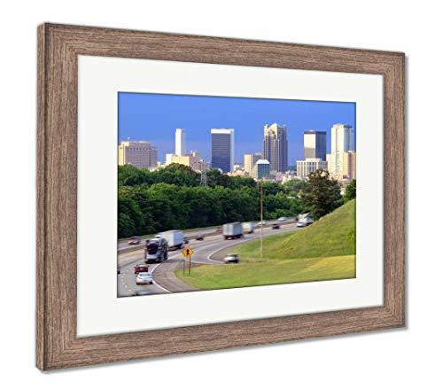 (Ashley Framed Prints Birmingham, Alabama Skyline, Wall Art Home Decoration, Color, 26x30 (Frame Size), Rustic Barn Wood Frame, AG32675129)