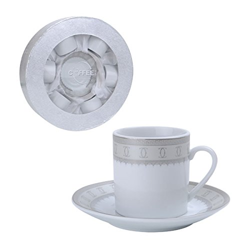 Espresso or turkish coffee gift set of 6 china demitasse for Alpine cuisine flatware
