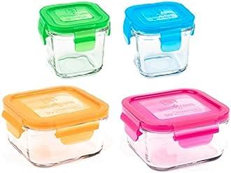 Wean Green RP525GP Lunch BowlS Garden 4er set Speisebeh/älter aus Glas