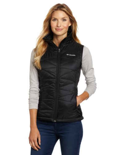 Columbia Women's Mighty Lite III Vest, Black, Large Columbia Chest Pocket Vest