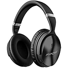 Mpow H5 Active Noise Cancelling Headphones, ANC Over Ear Wireless Bluetooth Headphones w/Mic, Dual 40 mm Drivers, Superior Deep Bass for PC/Cell Phone (30Hrs Playtime, CVC6.0 Noise-Cancelling Mic)