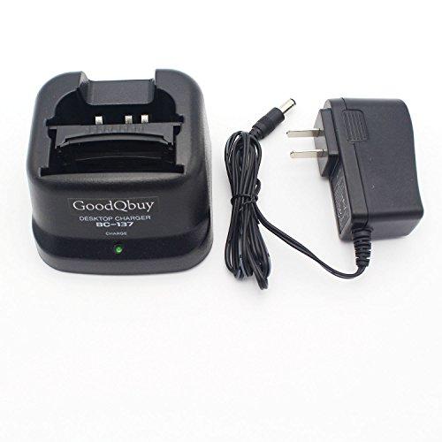 GoodQbuy® Rapid Quick Charger for Icom Radio IC-A24 IC-F4GT IC-F30GT IC-T3H IC-V8 BP-209N BP-210N BP-211N BP-222N BC-137 (Icom Radio Parts)