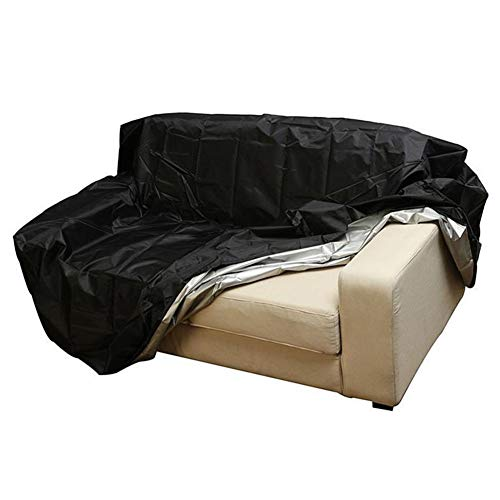 Seater Garden 4 (Covers 2/3/4 Seater Garden Bench Sofa, Waterproof Benches Protection Outdoor Furniture, Black (Size : 162x66x89cm))