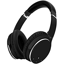 Srhythm Active Noise Cancelling Headphones Bluetooth Wireless Over Ear, Foldable Deep Bass Hi-Fi Stereo, Unique Rubber Finish for Airplanes Travel Work TV PC Phone Airplane Adaptor (Black)