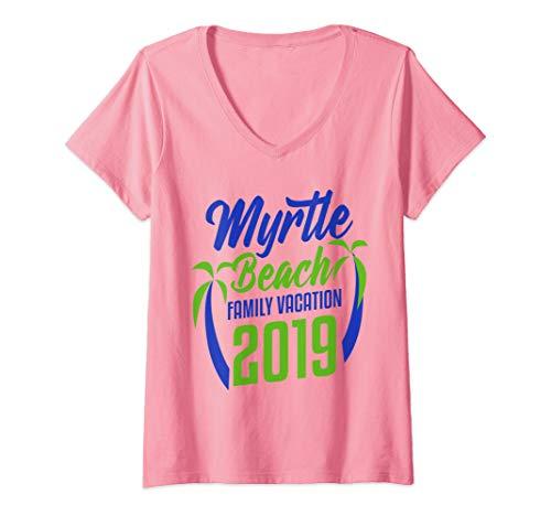 Womens Myrtle Beach Family Vacation South Carolina Holiday 2019 V-Neck T-Shirt